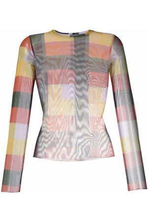 HENRIK VIBSKOV Women Long Sleeve - Pollen abstract-print T-Shirt