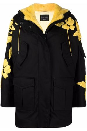 ERMANNO SCERVINO Faux-shearling butterfly stitched parka