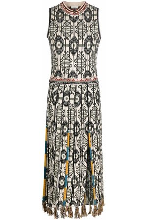 Etro Patterned jacquard knitted dress
