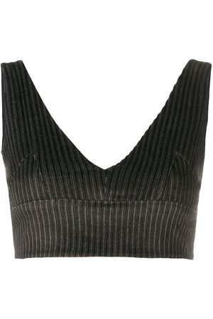 Rokh Corduroy cropped top