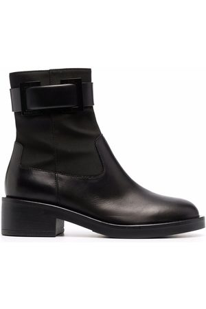 Sergio Rossi Prince buckle-strap leather boots