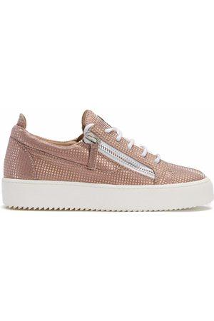 Giuseppe Zanotti Women Sneakers - Gail metallic-effect trainers