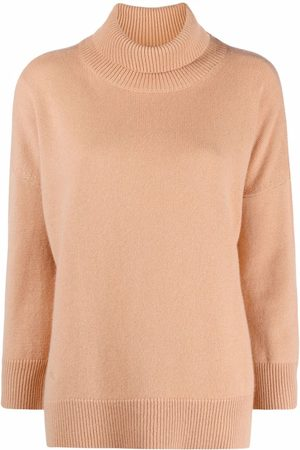 MAX & MOI Embroidered-logo roll-neck jumper