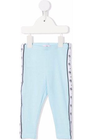 Chiara Ferragni Side-stripe cotton leggings