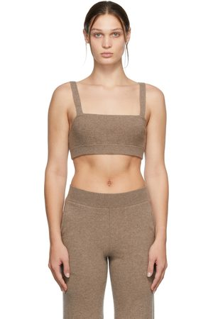Frame Beige Cashmere Cropped Tank Top