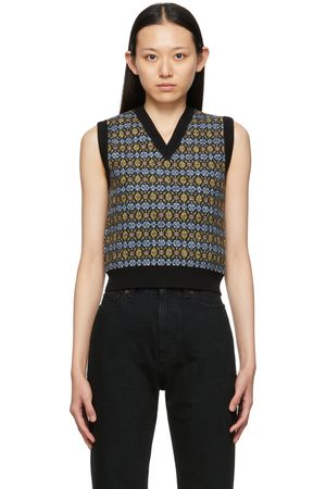 Saint Laurent Multicolor Wool V-Neck Sweater