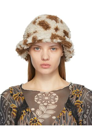 Anna Sui & Off-White Faux-Shearling Bucket Hat