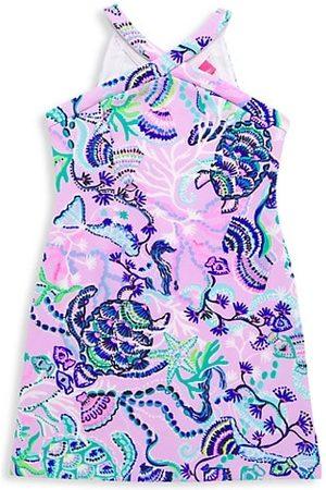 Lilly Pulitzer Girl's Alyson Sea Print Shift Dress