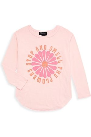 Tiny Whales Little Girl's & Girl's Smell The Flowers Long-Sleeve T-Shirt