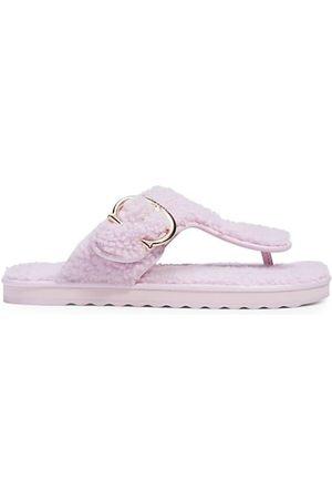 COACH Hollie Shearling Flip-Flop Sandals