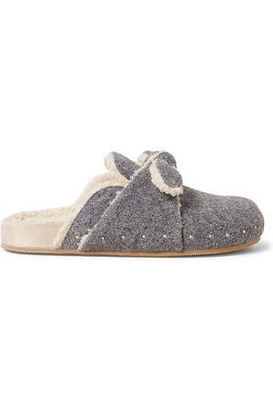 Loeffler Randall Casual Shoes - Bree Studded Faux-Shearling Clogs