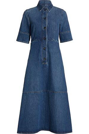 Co Women Casual Dresses - Denim Shirt Dress