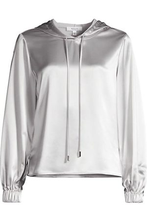 Milly Women Jumpers - Talia Hammered Satin Hoodie