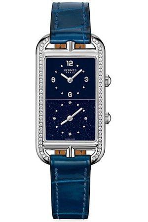HERMÈS Watches - Nantucket Diamond Alligator-Strap Watch