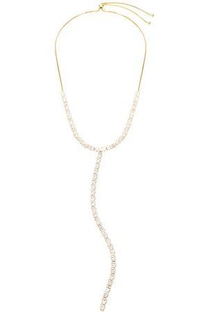 Theia Necklaces - 14K Goldplated & Cubic Zirconia Y Necklace