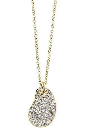 Ippolita Stardust 18K Yellow & Diamond Kindey Bean Pendant Necklace