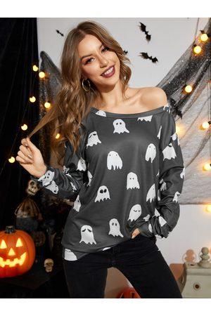 Yoins Halloween Cartoon All Over Print Sweatshirt