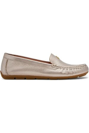 Coach Marley Metallic Leather Driver Loafers