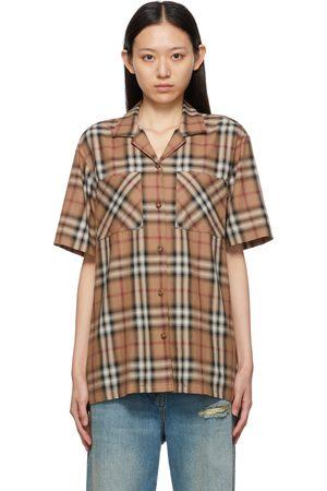 Burberry Ombré Check Kiera Bowling Shirt