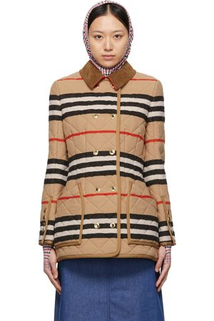 Burberry Beige Wool Quilted Upton Jacket