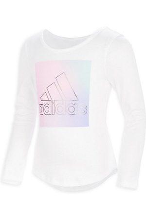 adidas Little Girl's Long Sleeve Logo Ombré T-Shirt