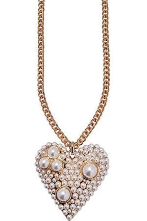 Carolina Herrera Necklaces - Goldtone & Resin Pearl Heart Pendant Necklace