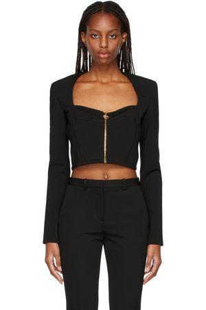 Versace Zip-Up Blouse