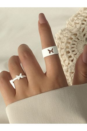YOINS 2pcs Butterfly Hollow Design Rings