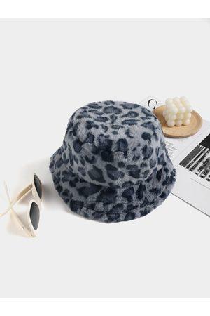 YOINS Leopard Plush Fisherman Hat