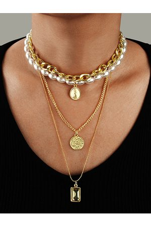YOINS Coin Pendant Multi-layer Pearl Necklaces