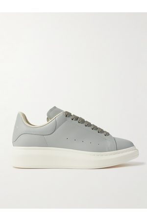 Alexander McQueen Men Sneakers - Exaggerated-Sole Leather Sneakers