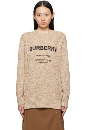 Burberry Beige & Off-White Wool Knit Mabel Sweater