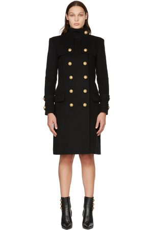 Balmain Wool & Cashmere Double-Breasted Coat