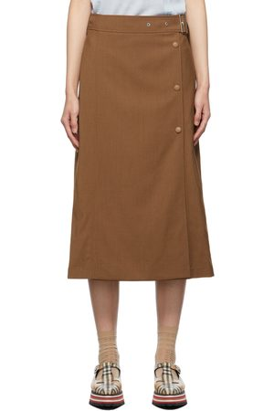 Burberry Keeley Belted Skirt