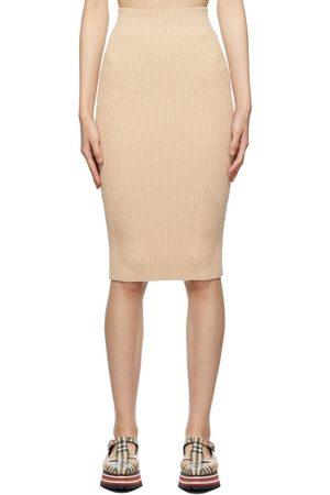 Burberry Linen Rib Bronwyn Skirt