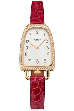 HERMÈS Watches - Galop d'Hermès Rose Gold & Diamond Watch