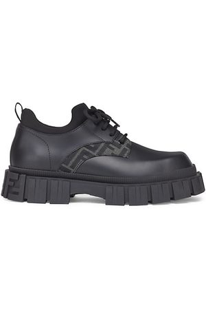 Fendi Leather Double F Oxford Shoes