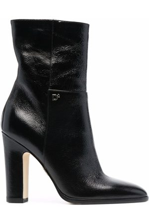 Dsquared2 Women Boots - Logo-plaque high-heeled leather boots