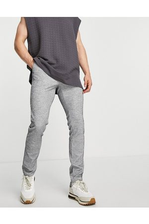 ASOS DESIGN Skinny smart trousers co-ord with drawcord waist in jersey rib
