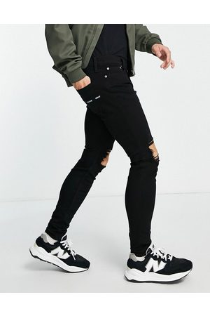 Hollister Superskinny fit knee blowout jeans in no fade
