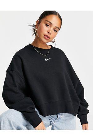 Nike Mini Swoosh oversized boxy sweatshirt in
