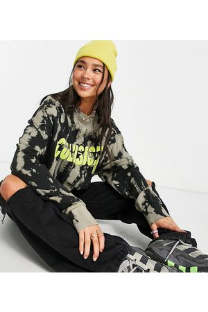 COLLUSION Women Sweatshirts - Bleached sweatshirt with graphic in multi