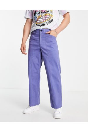 ASOS DESIGN Men Chinos - Wide fit trousers with stitch detail in