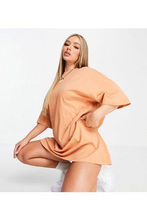 Puma Essentials t-shirt dress in tawny