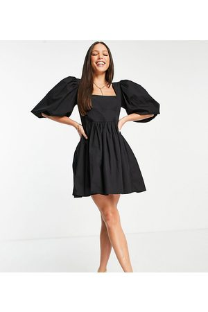 In The Style Women Dresses - X Lorna Luxe corset detail puff sleeve mini skater dress in