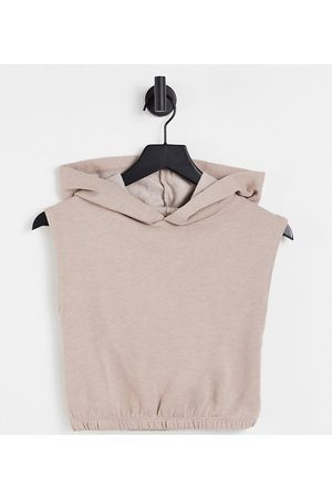 Miss Selfridge Petite boxy hoodie in neutral