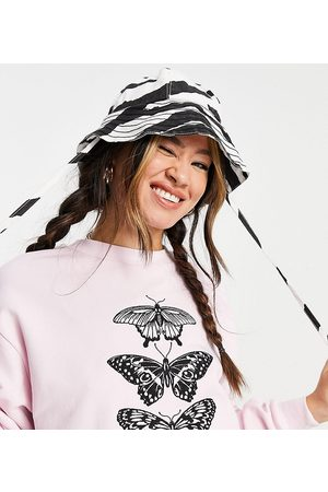 Reclaimed Vintage Inspired cropped sweat with butterfly print in