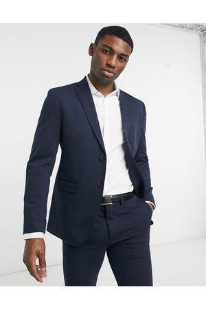 SELECTED Men Blazers - Jersey suit jacket slim fit in navy
