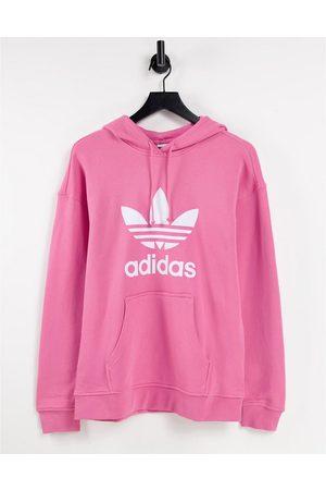 adidas Adicolor large logo hoodie in
