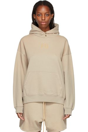FEAR OF GOD Taupe 'FG' Hoodie